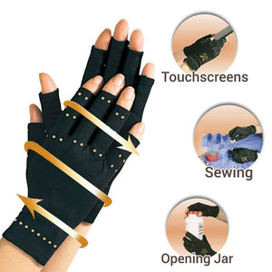 Arthritis Copper Infused Compression Gloves