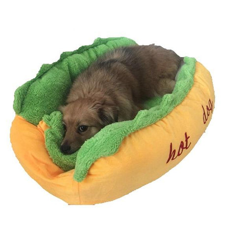 hot dog bed for dog