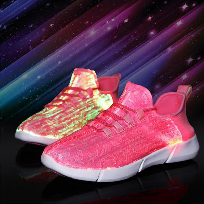 pink led shoes