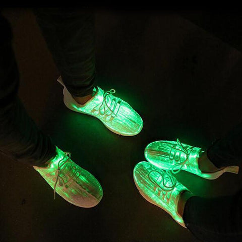 Image of glowing sneakers