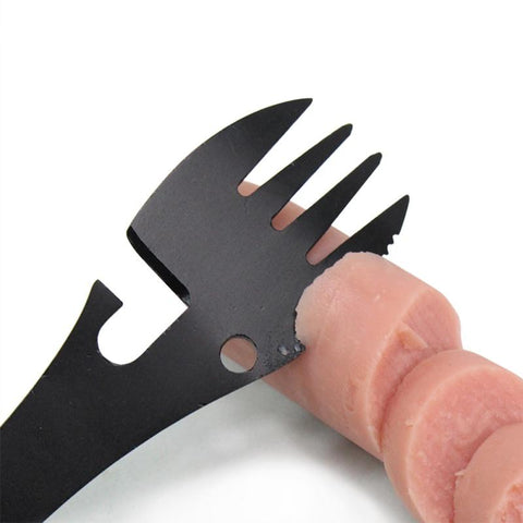 Image of spork with knife edge