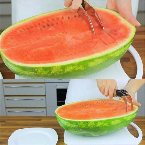 Image of watermelon cutter slicer