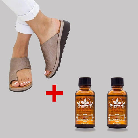 Bunion Sandals With 2 Bottles Ginger oil