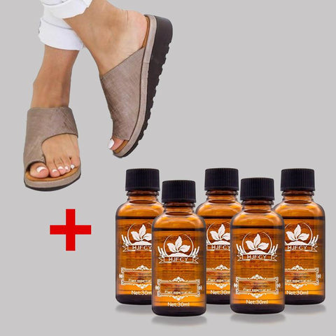 Bunion Sandals With 5 Bottles Ginger oil