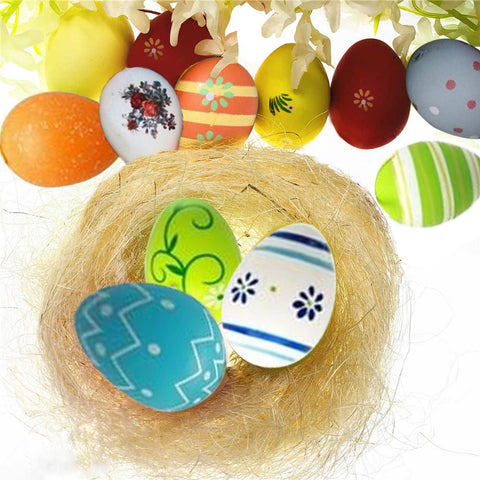 12 PCS Colorful Painted Easter Eggs