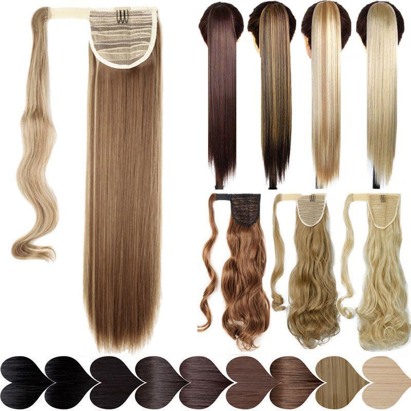 17''23'' Silky Fake Hair Extension Ponytails