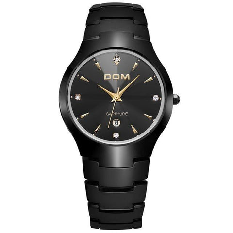 black tungsten watch