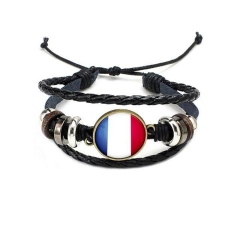 National Flag Beaded Wristband