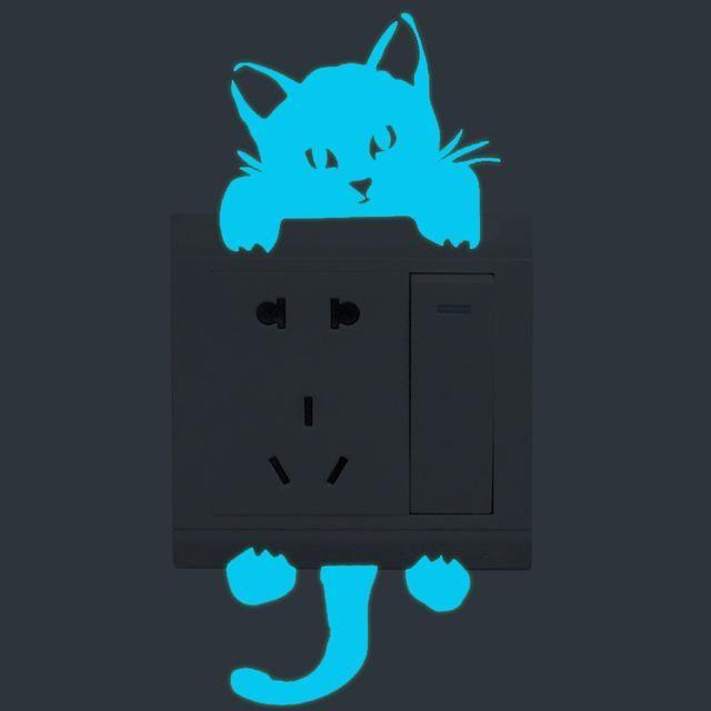 Fluorescent Cat Sticker