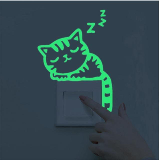Luminous Cat Sticker