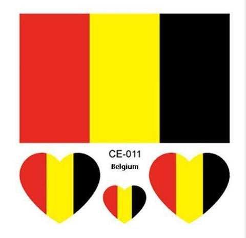 Image of Belgium Flag Tattoo