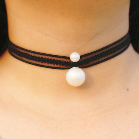Image of Black Necklace Choker