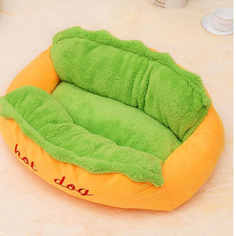 hot dog shaped bed for pet