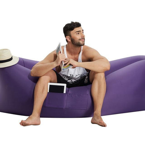 Image of outdoor inflatable sofa