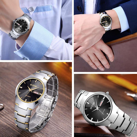 Tungsten Steel Luxury Watches For Men