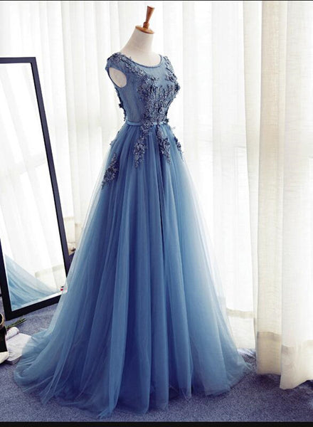 Charming Tulle Gown, Prom Gown, Junior Prom Dress 2018, Party Dresses