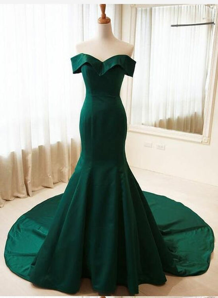Green Long Mermaid New Style Prom Dress, Formal Dress, Prom Gowns 2018