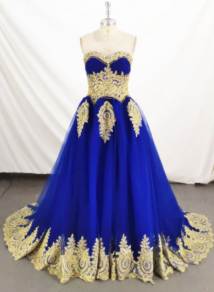 royal blue sweet 16 party dress