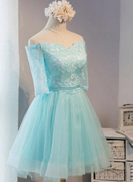 Adorable Mint Green Knee Length Homecoming Dress, Short Prom Dress