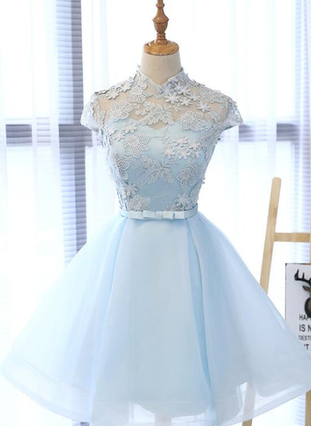 Cute Light Blue Homecoming Dress for Sale, Lovely Tulle Formal Dresses, Party Dress