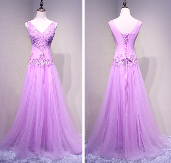 Charming Tulle Sequins Long Unique Party Dress, Lovely Formal Dresses 2019