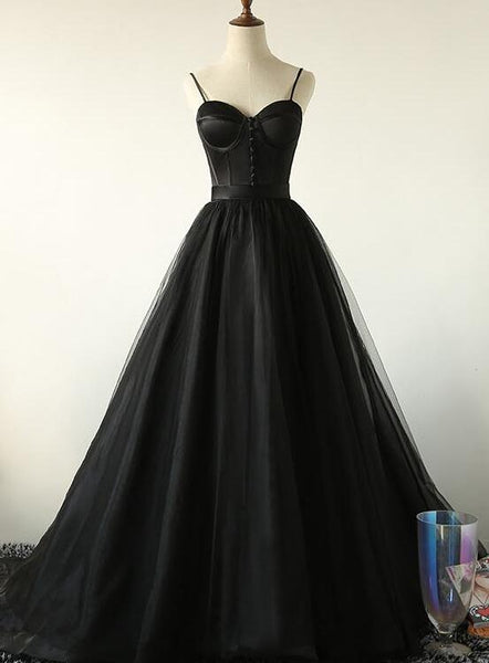 black long formal gown