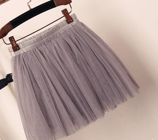 Lovely Tulle Mini Skirt, Short Women Skirt, Cute Skirts