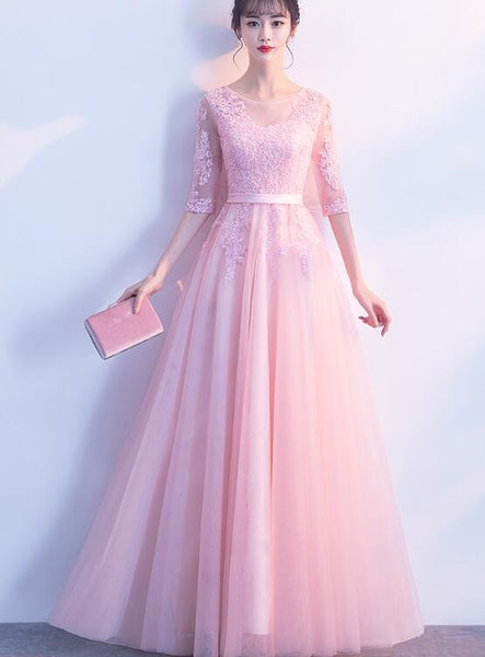 beautiful pink lace and tulle party dress