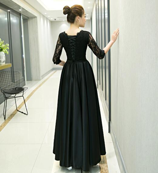 Black Long Sleeves Party Dress 2020, Formal Dress 2020