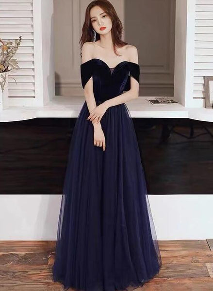 navy blue prom dress 2020