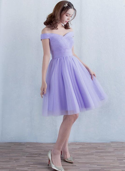 Adorable Lavender Short Tulle Homecoming Dress, Prom Dress 2021