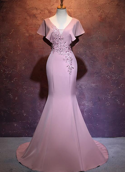 pink mermaid party gown