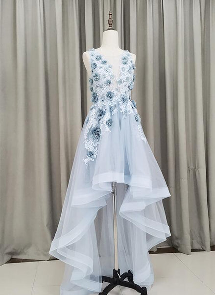 Cute Blue High Low Party Dress 2020