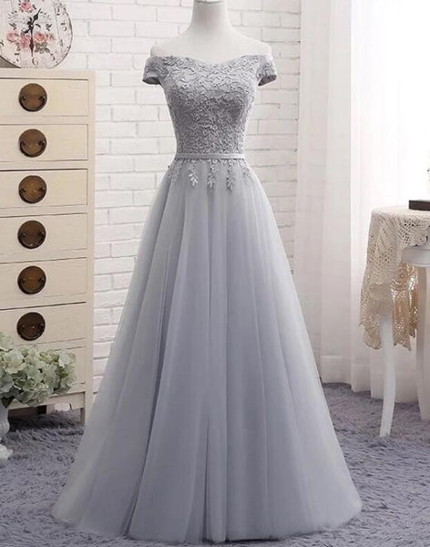 Lovely Simple Sweetheart Off Shoulder Long Party Dress, A-line Floor Length Bridesmaid Dress