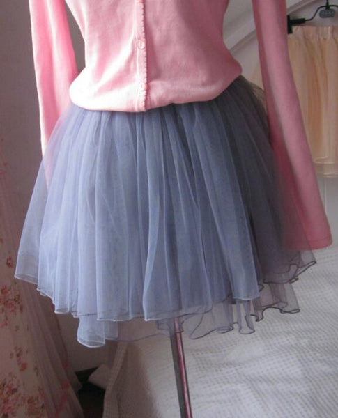 Lovely Women Tulle Skirt, Cute Layers Tulle Short Skirts