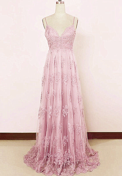 pink sweetheart prom dress