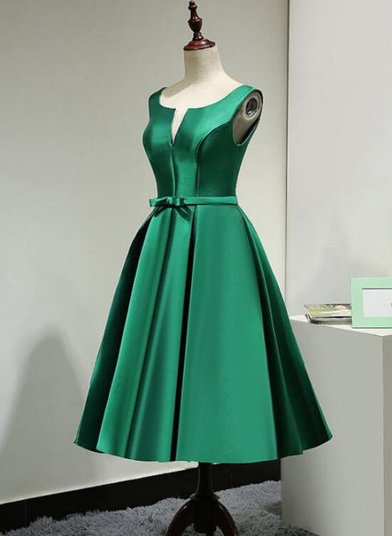 dark green satin prom dress 2020