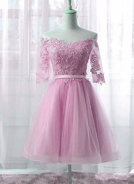 pink tulle and lace party dress