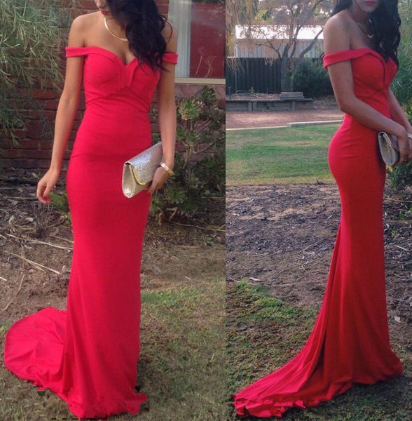 Beautiful Red Mermaid Long Sweetheart Prom Dress, Junior Prom Gowns, Red Evening Gowns