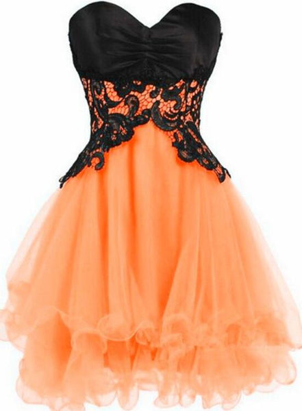 Short Tulle Sweetheart Short Prom Dress, Cute Party Dress, Lovely Party Dress
