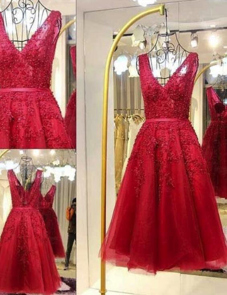 Red Tulle Homecoming Dresses, Gorgeous Party Dresses, Short Formal Dress