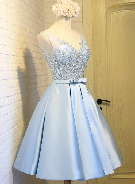 Light Blue Homecoming Dress, Cute Party Dress, Lovely Formal Dress 2018