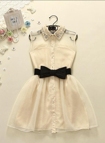 Lovely Women Short Dress with Bow, Cute Teen Dresses, Adorable Dresses