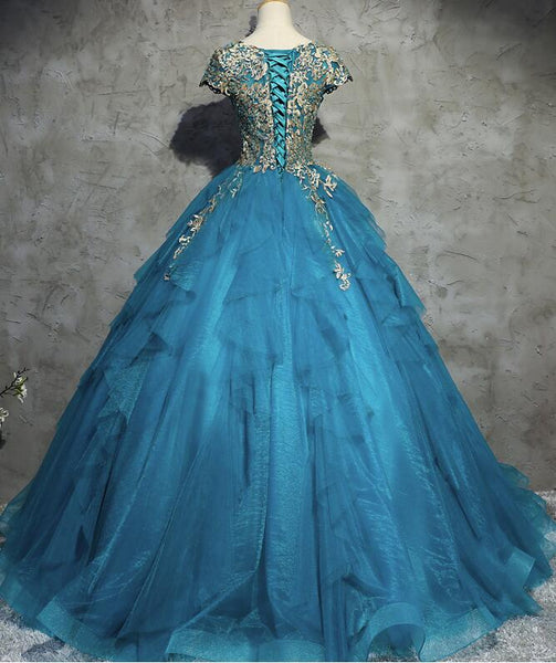 Gorgeous Tull Ball Princess Gowns, Handmade High Quality Party Gowns, Sweet 16 Dresses