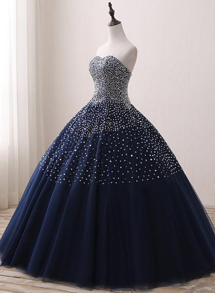 Blue Sequins Quinceanera Dresses, Gorgeous Formal Gowns, Prom Dress 2019
