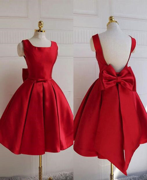 Lovely Round Neckline Red Homecoming Dress, Red Formal Dress, Red Party Dress