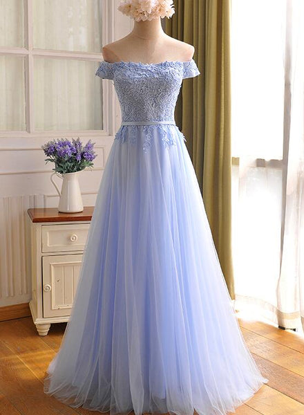 Light Blue Simple Bridesmaid Dresses, Beautiful Party Dresses 2019
