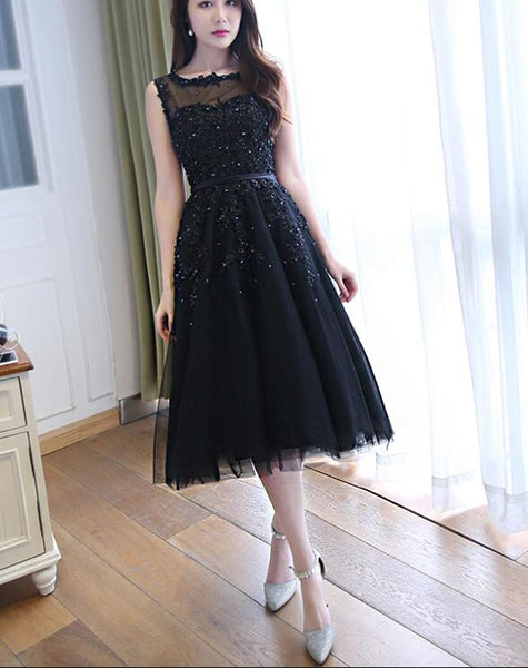 Beautiful Navy Blue Homecoming Dresses, Lovely Short Prom Dress