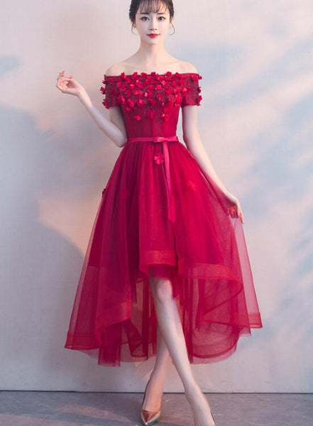 red high low homecoming dress 2019