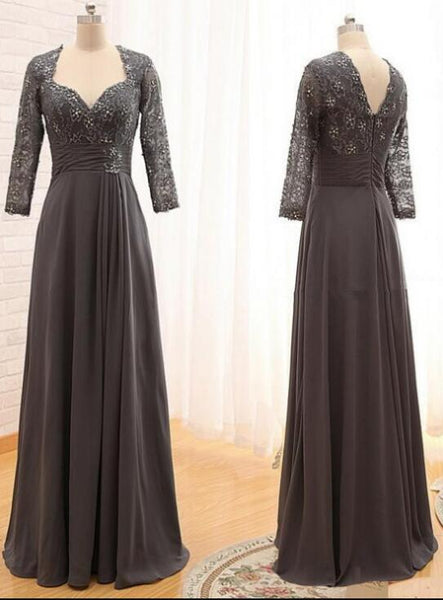 grey long party dress